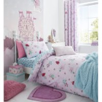 Catherine Lansfield Fairies Duvet Set - Single - Pink