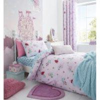 Catherine Lansfield Fairies Duvet Set - Single - Pink
