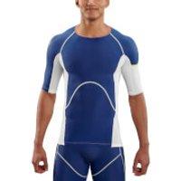Skins DNAmic Men's Ultimate Cooling Short Sleeve Top - White Zephyr - XL - White/Zephyr