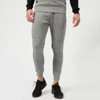 Superdry Sport Mens Gym Tech Stripe Jogger Pants - Grey Grit - Black - L - Grey