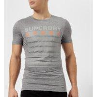Superdry Sport Mens Athletic Graphic Short Sleeve T-Shirt - Mid Grey Grit - XXL - Grey