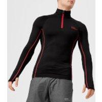 Superdry Sport Mens Athletic Henley Top - Black - M - Black