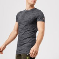 Superdry Sport Men's Gym Tech All Over Print Short Sleeve T-Shirt - Mid Grey Fleck - L - Grey