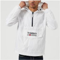 Tommy Jeans Mens Pop Over Anorak - Classic White - XL - White