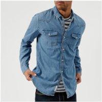 Tommy Jeans Mens Denim Shirt - Mid Indigo - XL - Blue