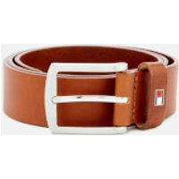 Tommy Hilfiger Men's New Denton Belt 3.5 - Dark Tan - 100cm/XL - Tan