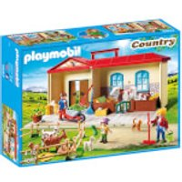 Playmobil Country Take Along Farm with Carry Handle and Fold-Out Stables (4897) - Farm Gifts