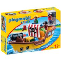 Playmobil 1.2.3 Floating Pirate Ship with Firing Water Cannon (9118) - Playmobil Gifts