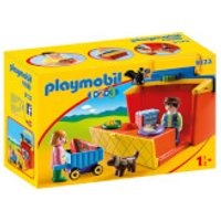 Playmobil 1.2.3 Take Along Market Stall with Carry Handle and Shape Sorting Function (9123) - Playmobil Gifts