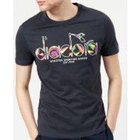 Diadora Mens Short Sleeve T-Shirt - Ombre Blue/Optical White - S - Blue