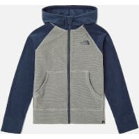 The North Face Boys Glacier Full Zip Hoodie - Mid Grey/Cosmic Blue - 6 years/XS - Grey
