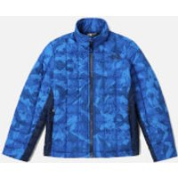 The North Face Boys' Thermoball Full Zip Jacket - Turkish Sea Metric MTN Print - 6 years/XS - Blue