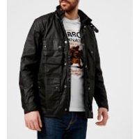 Barbour International Mens Rake Wax Jacket - Black - L - Black