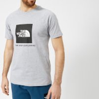 The North Face Mens Short Sleeve Raglan Red Box T-Shirt - TNF Light Grey Heather - M - Grey