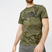 The North Face Mens Short Sleeve Easy T-Shirt - English Green Camo Print - L - Green