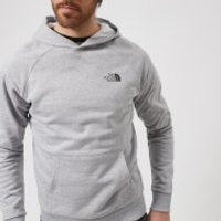 The North Face Mens Raglan Red Box Hoodie - TNF Light Grey Heather - XL - Grey