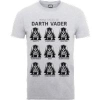 Star Wars Many Faces Of Darth Vader T-Shirt - Grey - XXL - Grey