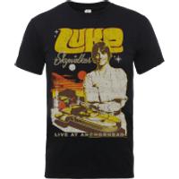 Star Wars Luke Skywalker Rock Poster T-Shirt - Black - XXL - Black