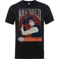Star Wars Han Solo Retro Poster T-Shirt - Black - XL - Black
