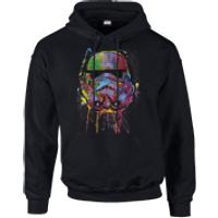Star Wars Paint Splat Stormtrooper Pullover Hoodie - Black - S - Black