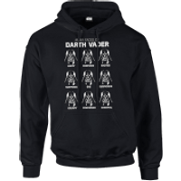 Star Wars Many Faces Of Darth Vader Pullover Hoodie - Black - XXL - Black - Darth Vader Gifts