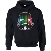 Star Wars Vertical Lights Stormtrooper Pullover Hoodie - Black - XXL - Black - Stormtrooper Gifts