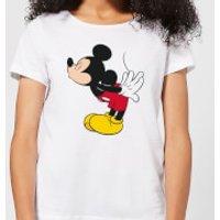 Disney Mickey Mouse Mickey Split Kiss Women's T-Shirt - White - XL - White
