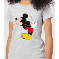 Disney Mickey Mouse Mickey Split Kiss Women's T-Shirt - Grey - L - Grey