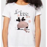 Disney Mickey Mouse Love Bug Women's T-Shirt - White - M - White
