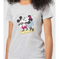 Disney Mickey Mouse Minnie Kiss Women's T-Shirt - Grey - XL - Grey