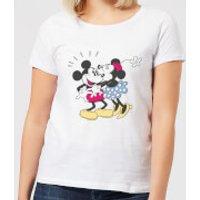 Image of Disney Mickey Mouse Minnie Kiss Women's T-Shirt - White - L - White