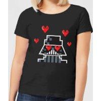 Star Wars Valentine's Vader In Love Women's T-Shirt - Black - L - Black