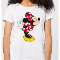 Disney Mickey Mouse Minnie Split Kiss Women's T-Shirt - White - M - White