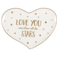 Sass & Belle Monochrome Love You Stars Jewellery Dish - Stars Gifts