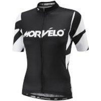 Morvelo Women's Unity Evo Short Sleeve Jersey - Black/White - L - Unity Evo