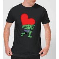 Marvel Comics Hulk Heart T-Shirt - Black - S - Black - Hulk Gifts