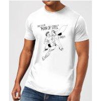 DC Comics Superman Valentines Steel Baby T-Shirt - White - 5XL - White