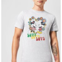 Disney Mickey Mouse Hippie Love T-Shirt - Grey - XXL - Black - Hippie Gifts