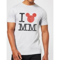 Disney Mickey Mouse I Heart MM T-Shirt - Grey - XL - Black