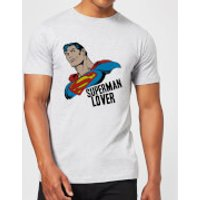 DC Comics Superman Lover T-Shirt - Grey - XXL - Black - Superman Gifts