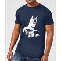 DC Comics Batman The Strong Silent Type T-Shirt - Navy - XXL - Navy - Batman Gifts