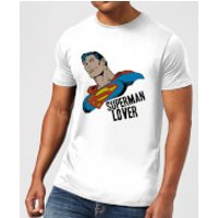 DC Comics Superman Lover T-Shirt - White - M - Black - Superman Gifts