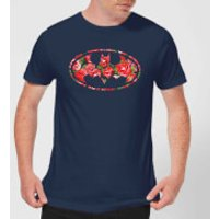 DC Comics Floral Batman Logo T-Shirt - Navy - S - Black - Batman Gifts