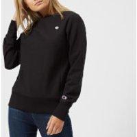 Champion Womens Crew Neck Sweatshirt - Black - M - Black