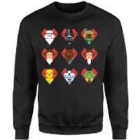 Star Wars Valentine's Pixel Montage Sweatshirt - Black - L - Black