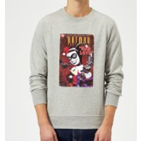 DC Comics Batman Harley Mad Love Sweatshirt - Grey - XL - Grey