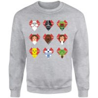 Star Wars Valentine's Pixel Montage Sweatshirt - Grey - M - Grey