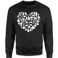 Star Wars Valentine's Heart Montage Sweatshirt - Black - S - Black