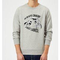 DC Comics Batman Always Chasin' Sweatshirt - Grey - XXL - Grey - Batman Gifts