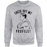 DC Comics Superman Check Out My Profile Sweatshirt - Grey - XL - Grey